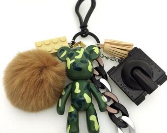 Popobe Camouflage Bear Bag Charm