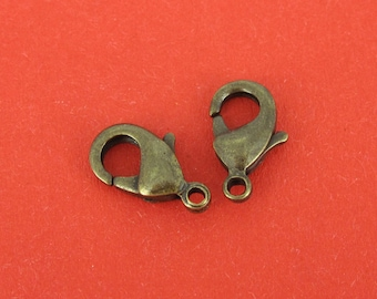 10 piece bronze locks 12 x 7 mm