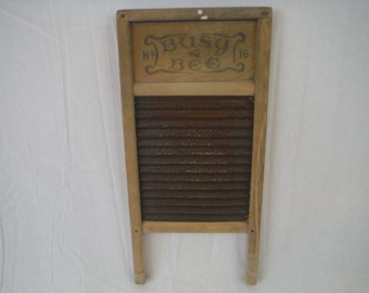1940's Busy Bee No.16 Washboard-Vintage-collectible-decor