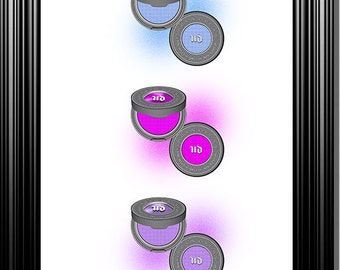 Urban Decay Eyeshadow 8.5x11 Instant Download Digital Print