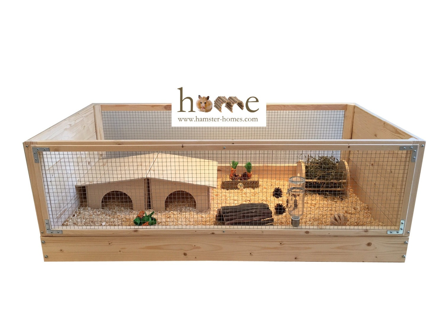 Super large guinea pig cage c c style 120x60cm for Wooden guinea pig cage