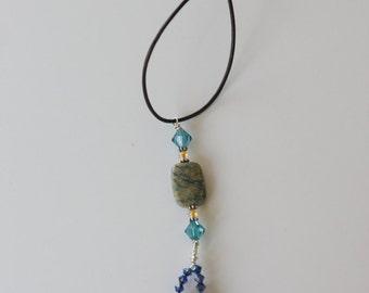 Tree agate pendant