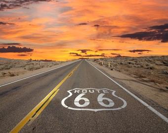 Route 66 Vintage Magnet 2x3
