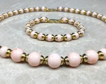 Vintage Avon Set, Avon Bracelet, Avon Necklace, Pink Avon Necklace, Pink Avon Bracelet, Pink Necklace, Pink Bracelet