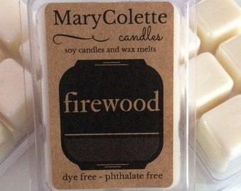 Firewood Soy Wax Melts | Soy Wax Melts | Firewood Scented Tarts | Firewood Candle | Scented Wax Melts
