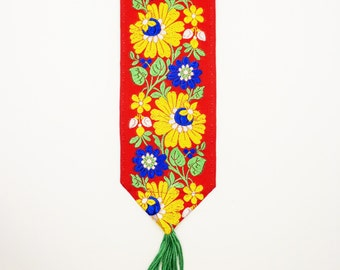 Bookmark.  Slovak Ribbon.  Unique and colourful.  Original design and made by hand.
