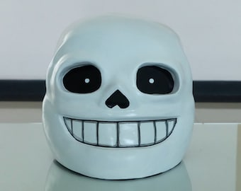 1:1 Scale Wearable Halloween Costume Cosplay Movie Game Prop, Undertale Sans Helmet Mask #513