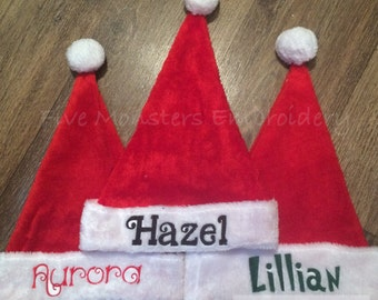 Custom Personalized Embroidered Christmas Santa Hats !!!SALE!!!