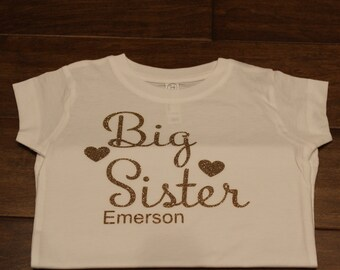 Big Sister shirt, little brother shirt, sibling set, Big Sister Shirt, Little brother shirt, Big Sister, Little Brother