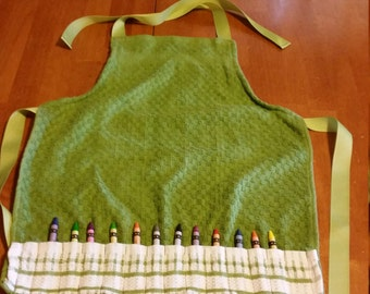 Kitchen Towel Crayon Apron