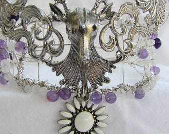 My Lady of the Forest OAK Silver plated Stag Tiara