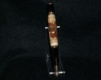 Handcrafted Kitten Inlay Pen