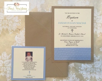 Baby Boy Baptisim Invitation & Favor