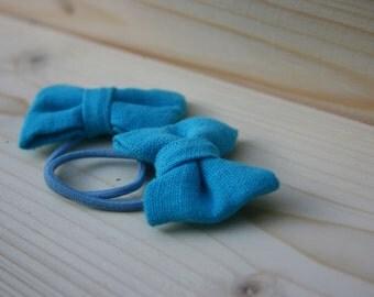 Sky blue  Hair bow pair