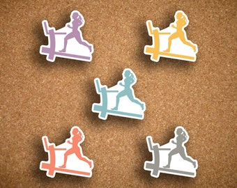 Woman Running, Treadmill, Fitness Die Cut Planner Stickers for Inkwell Press Planner IWP-DCTR1