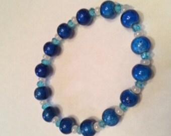 Cobolt Blue Beaded Bracelet