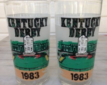 vintage 1983 Kentucky Derby collectible souvenir drinking glass