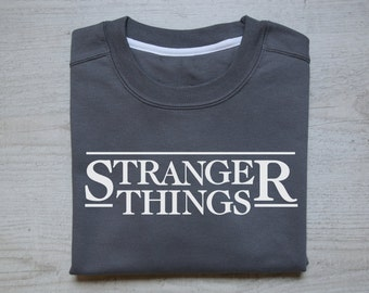 Stranger things sweater slouchy sweatshirt women men sweatshirt stranger things tv show Stranger things sweater heather dark gray
