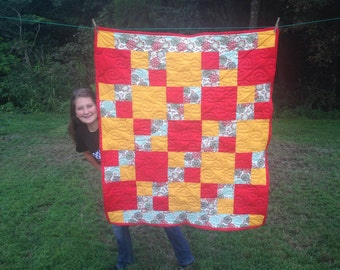 Four Patch Lap or Baby Quilt