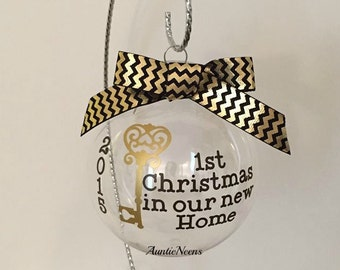New Home Christmas Ornament, Christmas Gift,  Christmans Ornament,Stocking Ornament, Our First Home Ornament, New House Ornamement