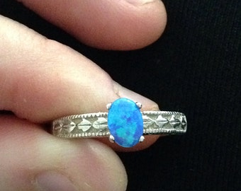 SFire Blue Opal ring