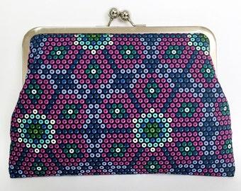 Designer Fabric Clutch Purse 'Beadwork'