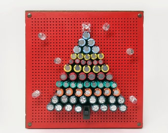 Unique Holiday Decoration, Christmas Gift, Unique Art, Christmas Tree, Electronic Components Art Decor