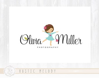 Children Logo Design Little Girl Logo Childcare  Logo Dance Logo Boutique Logo Kids Logo Watermark Photography Logo
