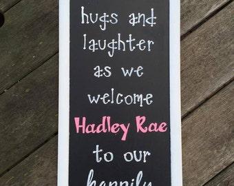 Welcome Baby Chalkboard