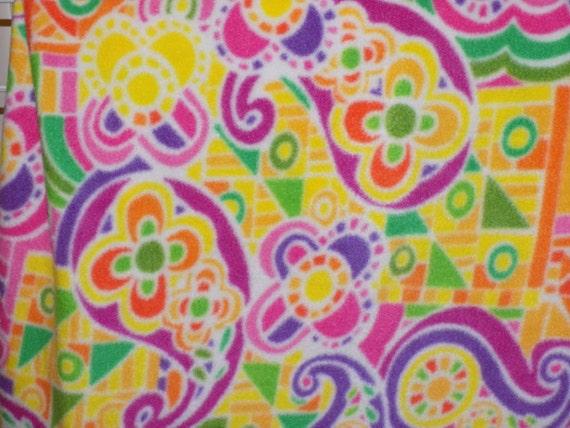Dog Jammies Multi colored flower print fleece