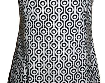 Dress black and white circles block