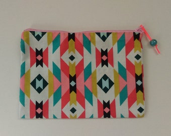 Small Zippered Pouch-- 7x5