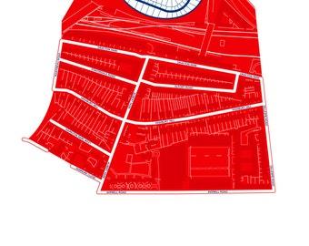 Arsenal Football Club - A3 map art