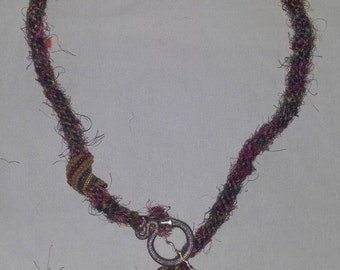 Long Kumihimo Rope with Serpent Clasp