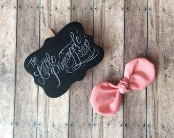 Pastel Pink knot bow