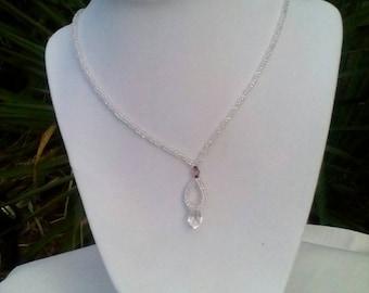 Swarovski crystal and aurora borealis glass bead necklace - generous 20 inch length