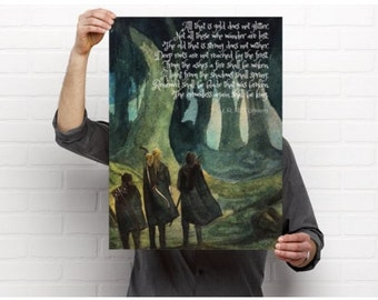 Not All Those Who Wander Are Lost - J R R Tolkien - FREE SHIPPING