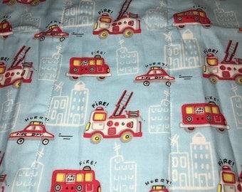 Firetrucks Burp Cloth