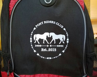 Pony riders club backpack red and black