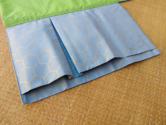 Nappy wallet with waterproof change mat / pad - three or two pockets- grey with gold diamond
