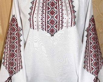 Ukrainian Hand-made Embroidery linen blouse