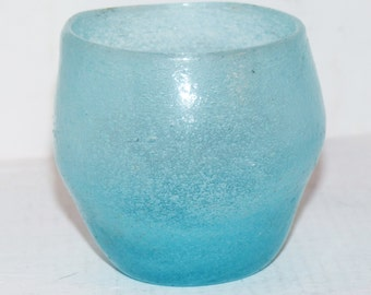 Aqua glass Votive Holder - 561