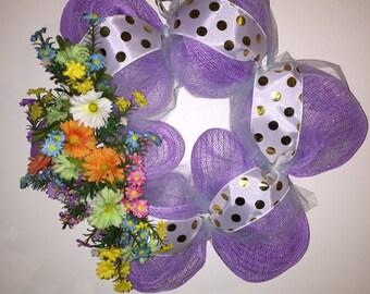 Spring/Easter Mesh Wreath