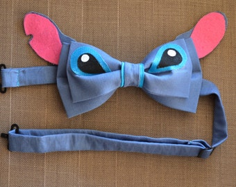 Disney Inspired Stitch Adjustable Bow Tie