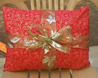 Seasonal Holiday Pillow w/ribbon
