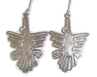 Peruvian Nazca Bird Alpaca Silver Earrings QL-YBYV-KSZ1