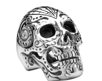 Tattoo skull ring skull for him and her (SK-005)