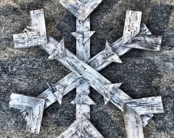 Pallet Wood Snowflake