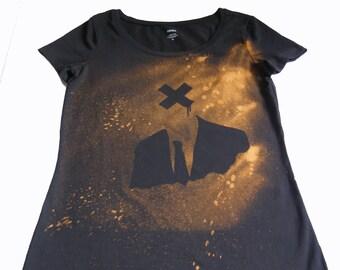 100% Handmade Bleached T-shirt - Mr. X