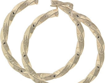 Large 18K Gold Filled Hoops - Will Last for YEARS